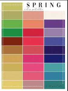 armocromia test Spring palette