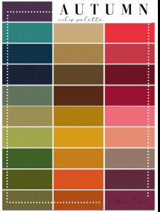 armocromia test autumn palette