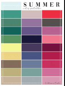 armocromia test summer palette