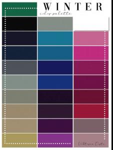 armocromia test winter palette
